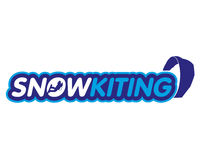Vector sticker snowkiting Royalty Free Stock Photo