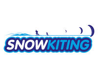 Vector sticker snowkiting Royalty Free Stock Photography