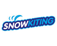 Vector sticker snowkiting Royalty Free Stock Image