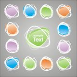 Vector sticker for text Stock Image