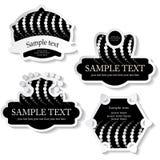 Vector stickers Royalty-vrije Stock Foto's