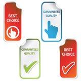 Vector stickers stock illustratie