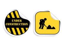 Vector stickers - in aanbouw Stock Foto