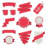 Vector Stickers And Badges Set 3. Flat Style. Royalty Free Stock Photos