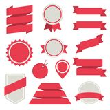 Vector Stickers and Badges Set 3. Flat Style. Royalty Free Stock Photography