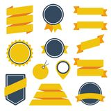 Vector Stickers and Badges Set 6. Flat Style. Royalty Free Stock Photo