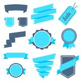 Vector Stickers and Badges Set 7. Flat Style. Stock Photos