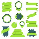Vector Stickers and Badges Set 11. Flat Style. Stock Photos