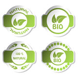 vector stickers - bio, natural Royalty Free Stock Images