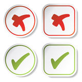 vector stickers - check marks Stock Photography