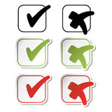 Vector stickers - check marks Stock Image