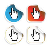 Vector stickers with cursor of hand Stock Photo