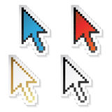 Vector stickers cursors of arrow Royalty Free Stock Images