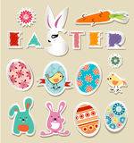 Vector stickers Easter vintage Royalty Free Stock Images