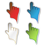 Vector stickers of hand Stock Images