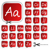 Vector stickers with hand drawing alphabet. Stickers with hand drawing alphabet - vector illustration Stock Images
