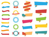 Vector Stickers, Labels Banners and Ribbons Royalty Free Stock Image