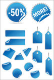 Vector stickers and labels set Royalty Free Stock Images