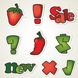 Vector stickers for promotion Royalty Free Stock Photo