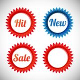 Vector stickers sale, new, hit. Vector stickers � sale, new, hit signs Royalty Free Stock Image