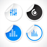 Vector stickers Royalty Free Stock Image