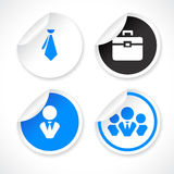 Vector stickers Royalty Free Stock Photos