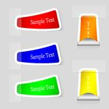 Vector stickers set with place for your text. Stock Photo
