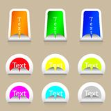 Vector stickers set with place for your text Royalty Free Stock Images