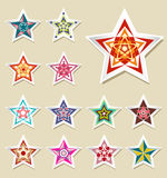 Vector stickers Star vintage Stock Photography