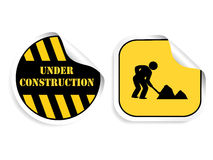 Vector stickers - Under construction Stock Photo