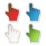 Vector stickers van hand Stock Afbeeldingen