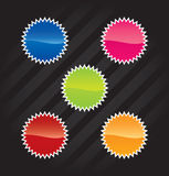 Vector stickers for web design Royalty Free Stock Photography