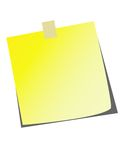 Vector Sticky Note! Stock Photography