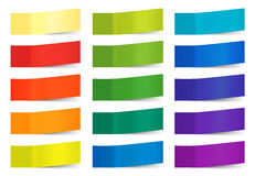 Vector sticky notes isolated on white. Colored paper stickers for remember illustration.Collection of colorful sticky. Colored paper stickers for remember Stock Image