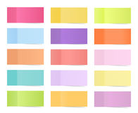 Vector sticky notes isolated on white. Colored paper stickers for remember illustration.Collection of colorful sticky Stock Images