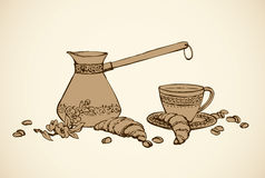 Vector still life of flavored coffee Stock Images