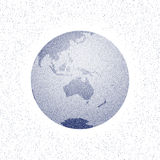 Vector stippled world stylized globe Royalty Free Stock Images
