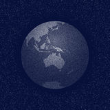 Vector stippled world stylized globe Royalty Free Stock Photo