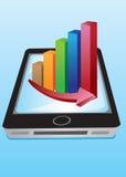 Vector stock charts Handphone Stock Images