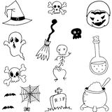 Vector stock halloween doodle Royalty Free Stock Photography