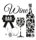 Vector Stock Illustration For Wine Bar Stock Photography