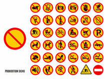 Vector stock illustration of icons Royalty Free Stock Photos