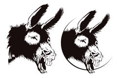 Vector stock illustration. Laughing donkey. Royalty Free Stock Photos