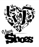 Vector stock illustration of shoes. Royalty Free Stock Images