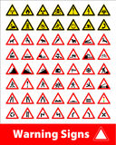 Vector stock illustration of signs Royalty Free Stock Images