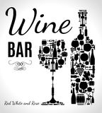 Vector stock illustration for wine bar Royalty Free Stock Images