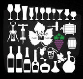 Vector stock illustration for wine bar Royalty Free Stock Photography