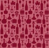 Vector stock illustration. Wine pattern Stock Image
