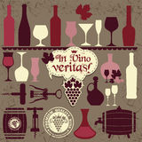 Vector stock illustration. Wine set Stock Photography