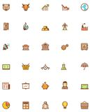 Vector stock market icon set. Set of the stock market related icons Stock Photos